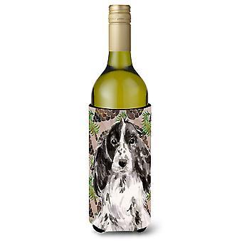Garrafa de vinho Beverge isolador Hugger Cones de pinho preto Parti