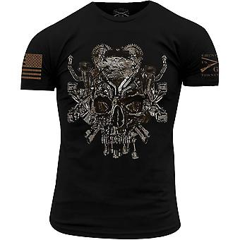 Grognement Style MECANI-crâne Crewneck T-Shirt-Black