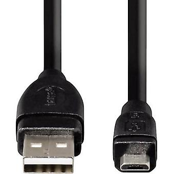 Hama USB 2.0-kabel [1x USB 2.0-connector A - 1x USB 2.0-connector Micro B] 25,00 cm Zwart vergulde connectoren