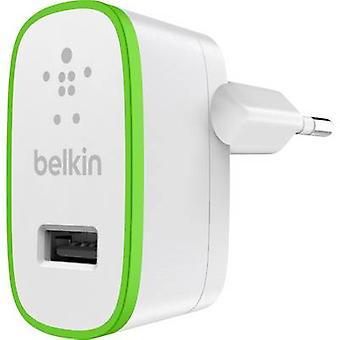 Belkin F8J040vfWHT F8J040vfWHT USB Carregador corrente Max de soquete. saída atual 2400 mA 1 x USB