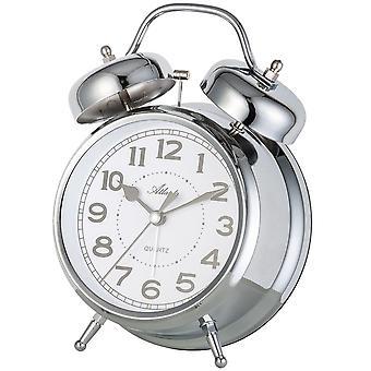 Quartz alarm clock silver alarm clock quartz with Bell signal