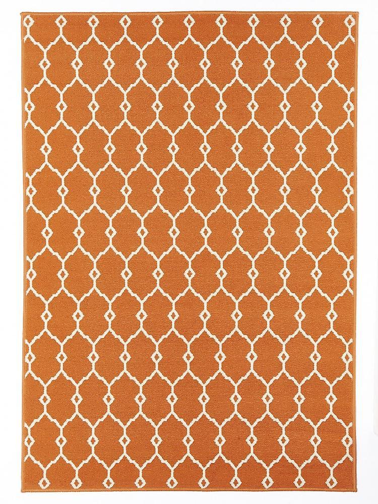 Outdoor Teppich Fur Terrasse Balkon Vitaminic Trellis Orange 160