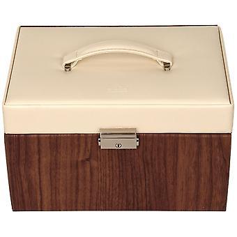 Sacher szkatułka Biżuteria sprawa stylu NORDYCKIM beżowy drewna wygląd zamku