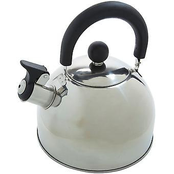 Regatta 2 Litre Stainless Steel Whistling Kettle Camping Kettle