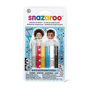 Snazaroo SZ1160602 Adventure Face Painting Sticks - Set of 6