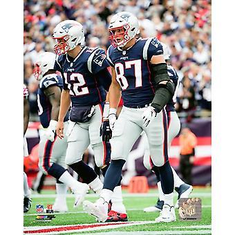 Tom Brady & Rob Gronkowski 2018 Action Photo Print