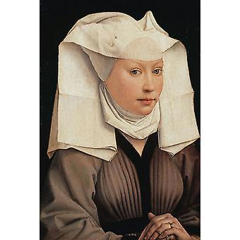 Naisen muoto kuva, Rogier Van der Weyden, 47x32cm