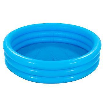 Intex Crystal Blue Three Ring Inflatable Paddling Pool