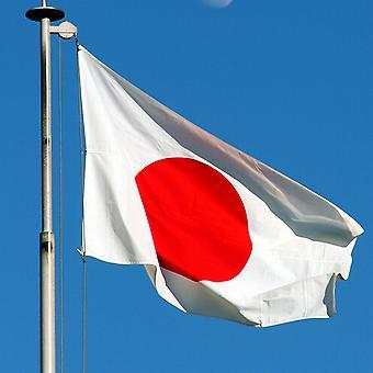 Flaga narodowa Japonii duży z pierścieniami 90x150cm
