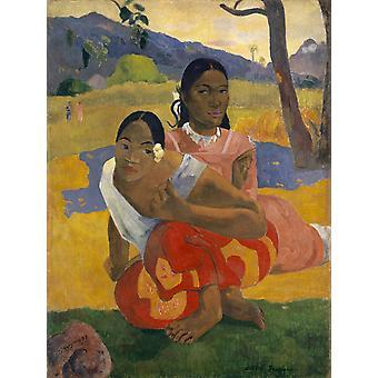 Wann willst du heiraten, Paul Gauguin, 50x38cm