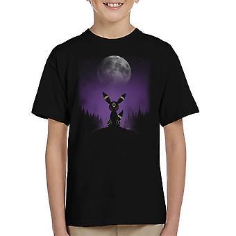 Pokemon Umbreon Forest Kid's T-Shirt
