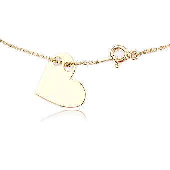 Celebrity Layered Style Pendant Necklace With A 1.5cm Asymmetric Heart Pendant