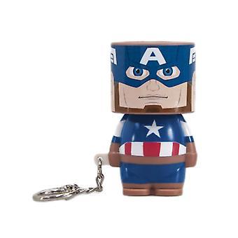Marvel Captain America Clip-On Look-Alite LED Keyring
