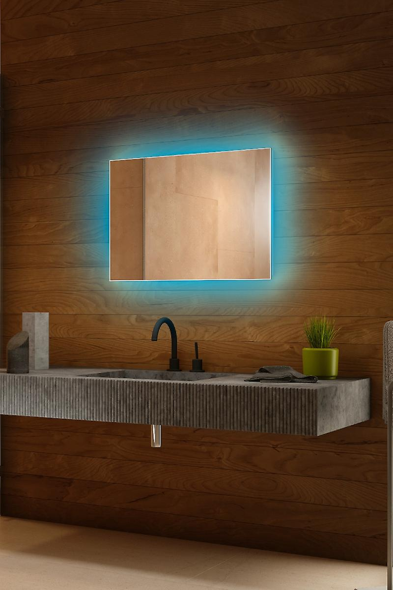 RGB Audio Backlit Mirror with Sensor, Demister, Shaver k703BLrgbaud