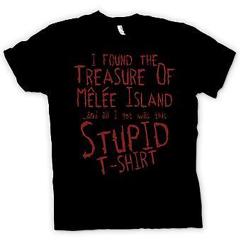 Мужская футболка - я обнаружил Сокровища острова ближнего боя и все, что я получил это
