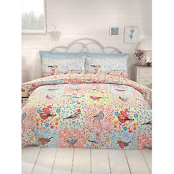 Hey Birdie Duvet Cover and Pillowcase Set