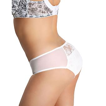 Nessa NO1 Women's Flores White and Grey Knickers Panty Full Brief