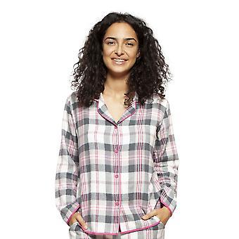 Cyberjammies 4250 Frauen's Lola Rosa Mix Check Baumwolle Pyjama Top