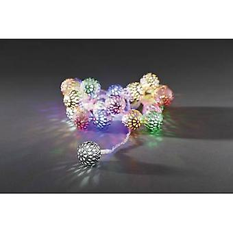 Konstsmide 3177-503 Holiday lights (motif) Globes Inside mains-powered 21 LED (monochrome) Multi-coloured Illuminated length: 2 m