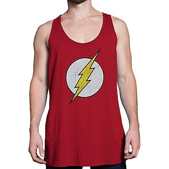 Flash Distressed Symbol Red Tank Top Flash Distressed Symbole Red Tank Top Flash