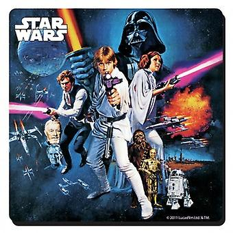 Star Wars (New Hope) single drinks mat / coaster (lsh)