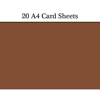 20 Brown A4 Card Sheets for Crafts   Coloured Card for Crafts