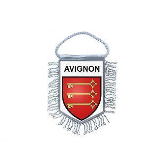 Fanion Mini Flag Country Car Decoration Souvenir Blason France Avignon