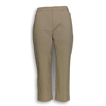 Susan graver vrouwen ' s broek ultra stretch pull-on gewas bruin A252350