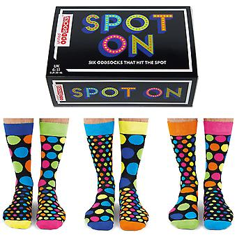 United Oddsocks Men's Spot On Socks Gift Set