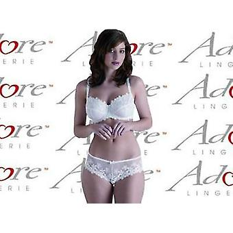 Adore Lingerie 'Falling Blossom' White Hipster Brief