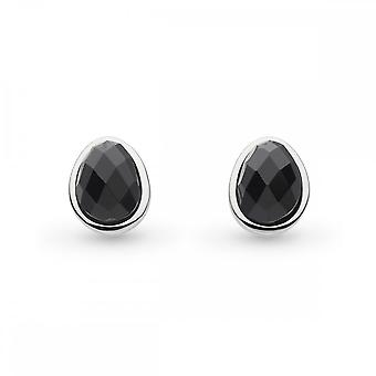 Kit Heath Coast Pebble Black Agate Stud Earrings 3180BA027