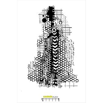 "Carabelle Studio ""Art Journal Dream"" Cling stämpel, vit/Transparent, 2 X-Large"