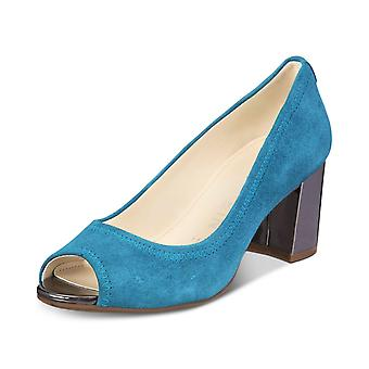Anne Klein Womens Meredith Suede Peep Toe Classic Pumps