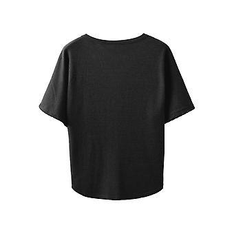Chuhee Women's S-3XL Short Sleeve Button Down Blouse Shirt, Black, Size XX-Large
