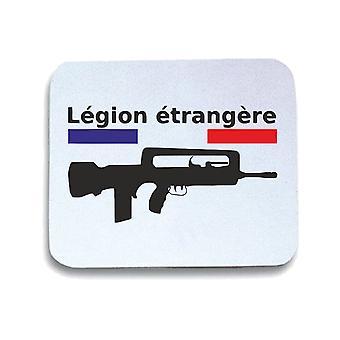 Tappetino mouse pad bianco wtc0687 legion etrangere