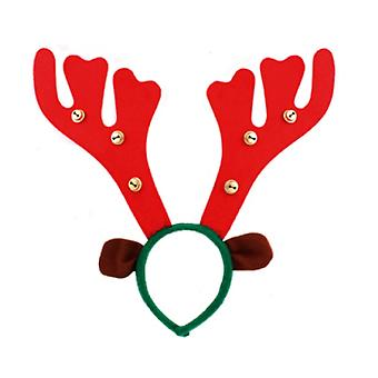 Seasons Greetings Reindeer Antler Headband with Bells