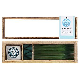 Something Different Throat Chakra Wooden Incense Gift Set