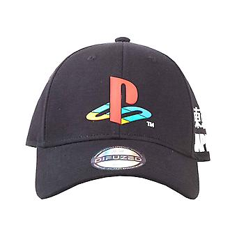 Playstation Baseball Cap Japansese Logo Official Sony Curved Bill Strapback