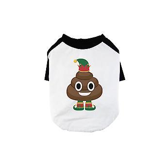 Poop Elf Funny Christmas BKWT Pets Baseball Shirt Gift Idea