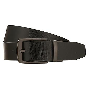 LLOYD Men's Belts Belt Męski pasek skórzany pasek cofania taśmowy czarny/szary 8434