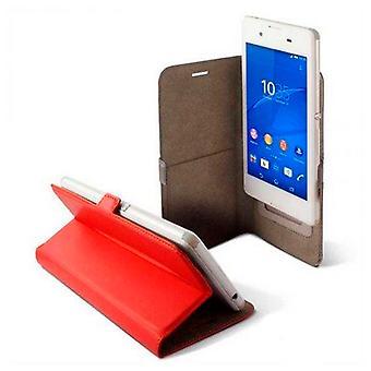 Universal mobil etui KSIX BXFU13T4 5RJ 4,5 rød