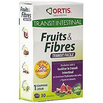 Ortis Fruit and Fiber 30 Tablets