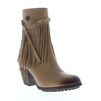 Harley-Davidson Retta Womens Brown Leather Zipper Motorcycle Boots