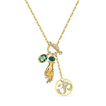 Swarovski Halskette 5514407 - Hand grün Stein gold Halskette und Frauen Daille Halskette