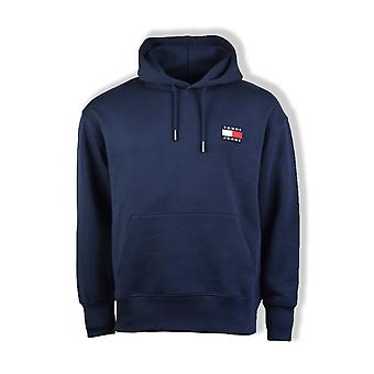 Tommy Jeans Badge Crew Hoodie (Black Iris)