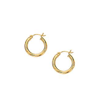 10k Gold Yellow Super Lite Tube Earrings Anklet Jewelry Gifts for Women - 1.2 Grams