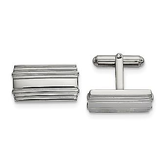 17.4mm Stainless Steel Polished Cuff Links Jewelry Gifts for Men