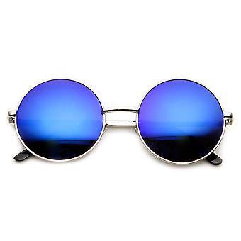 Puolivälissä kokoinen metallinen Lennon tyyli Flash peili pyöreä aurinkolasit
