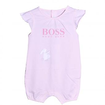 Hugo Boss Girls Hugo Boss Infant Girl's Short Pink All In One