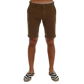 Dolce & Gabbana Brown Cotton Stretch Above Knees Shorts